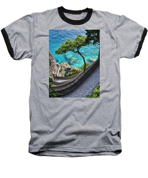 View From Capri.italy Baseball T-Shirt