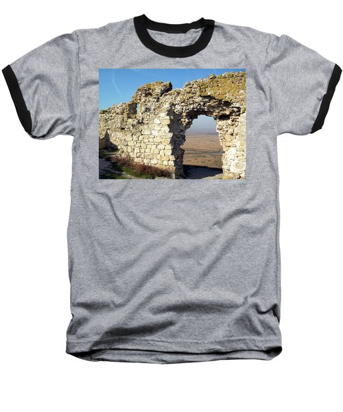 Baseball T-Shirt featuring the photograph View From Enisala Fortress 2 by Manuela Constantin