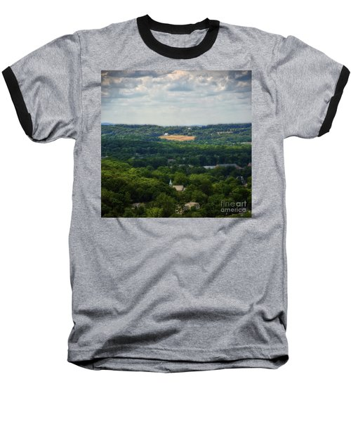Baseball T-Shirt featuring the photograph View From Goat Hill by Debra Fedchin