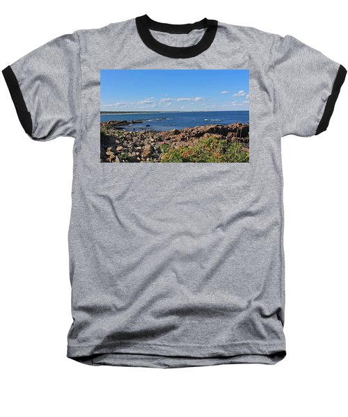 View From Marginal Way Ogunquit Maine 3 Baseball T-Shirt