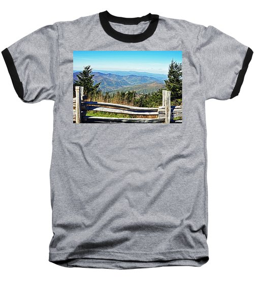 View From Mt. Mitchell Summit Baseball T-Shirt