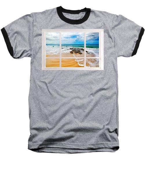 View From My Beach House Window Baseball T-Shirt