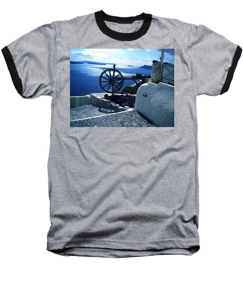 Baseball T-Shirt featuring the photograph View From Santorini Island Greece by Colette V Hera  Guggenheim