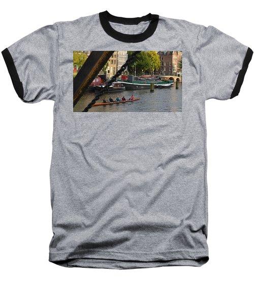 'skinny Bridge' Amsterdam Baseball T-Shirt by Cheryl Miller