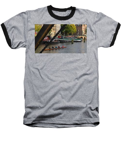 'skinny Bridge' Amsterdam Baseball T-Shirt