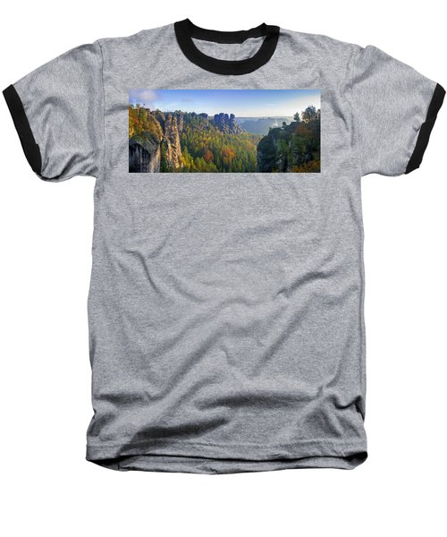 View From The Bastei Bridge In The Saxon Switzerland Baseball T-Shirt