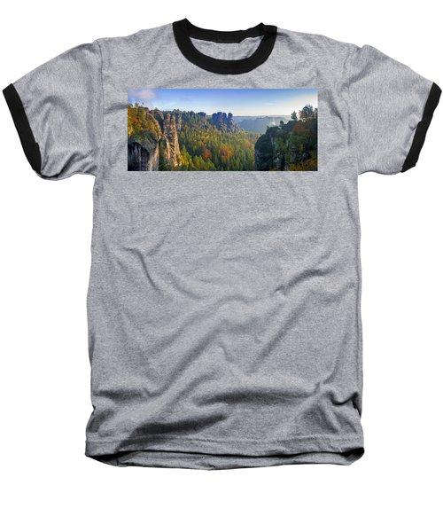 View From The Bastei Bridge In The Saxon Switzerland Baseball T-Shirt