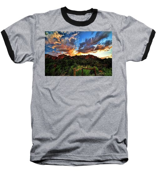 View From The Fence  Baseball T-Shirt
