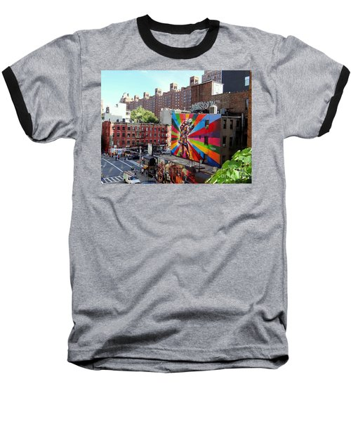 View From The Highline Baseball T-Shirt by Ed Weidman