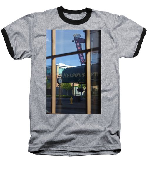 View From The Window Auburn Washington Baseball T-Shirt by Cathy Anderson