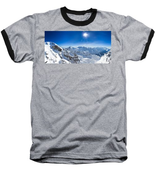 View From Titlis Mountain Towards The South Baseball T-Shirt by Carsten Reisinger