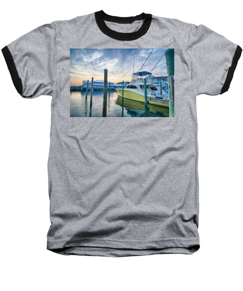 View Of Sportfishing Boats At Marina Baseball T-Shirt