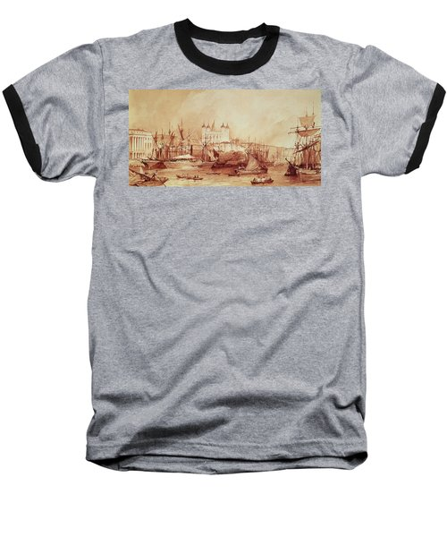 View Of The Tower Of London Baseball T-Shirt by William Parrott