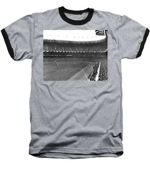 View Of Yankee Stadium Baseball T-Shirt by Underwood Archives