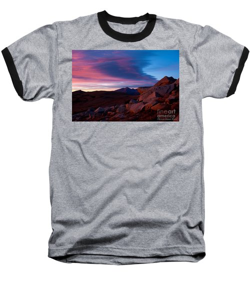 View To Long's Peak Baseball T-Shirt by Steven Reed