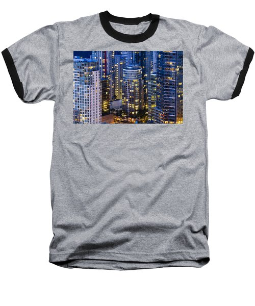 View Towards Coal Harbor Vancouver Mdxxvii  Baseball T-Shirt by Amyn Nasser