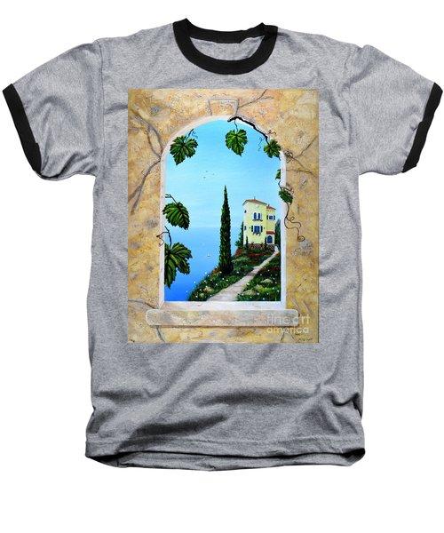 Villa By The Sea Baseball T-Shirt