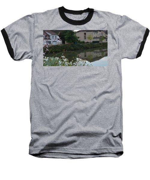 Village Life Baseball T-Shirt by Cheryl Miller