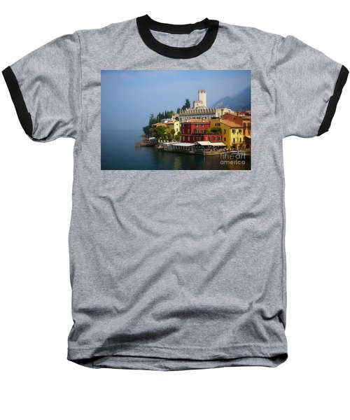 Village Near The Water With Alps In The Background  Baseball T-Shirt
