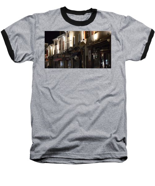 Village Nightscape Baseball T-Shirt