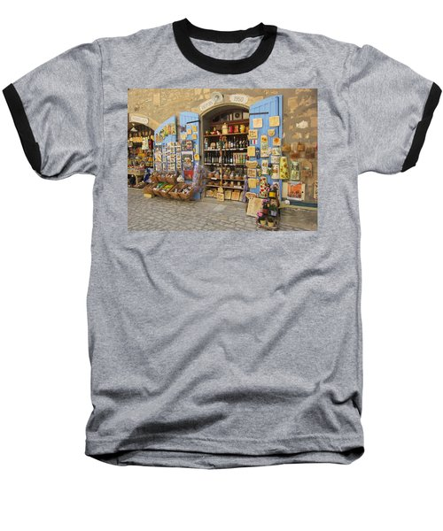 Village Shop Display Baseball T-Shirt