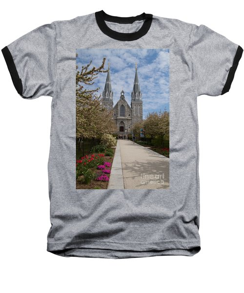 Villanova University Main Chapel  Baseball T-Shirt
