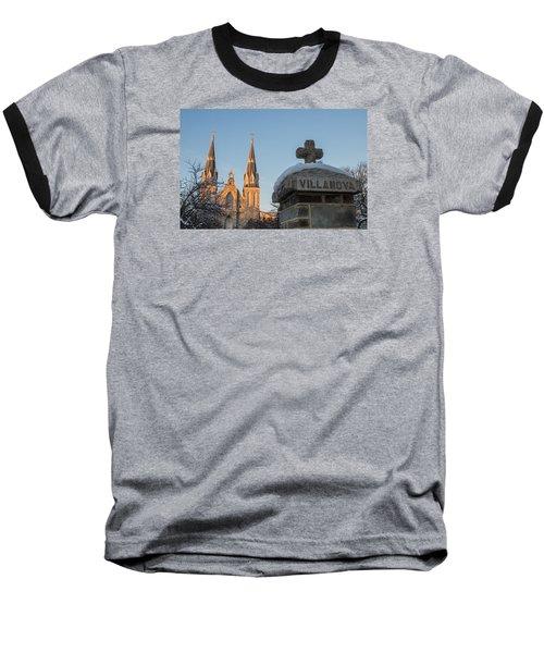 Villanova Wall And Chapel Baseball T-Shirt by Photographic Arts And Design Studio