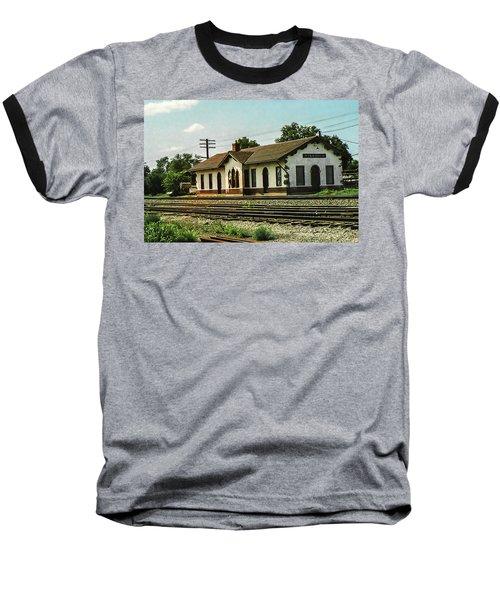 Villisca Train Depot Baseball T-Shirt