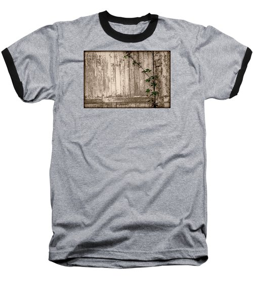 Baseball T-Shirt featuring the photograph Vine And Fence by Amanda Vouglas
