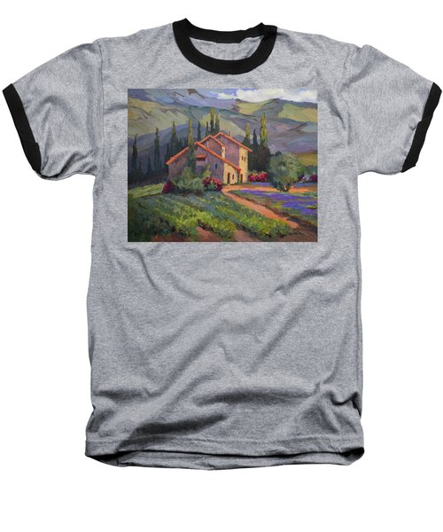 Vineyard And Lavender In Provence Baseball T-Shirt