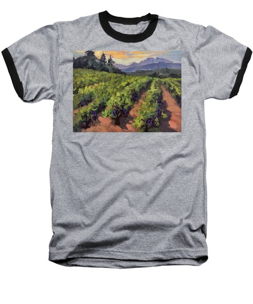 Vineyard At Dentelles Baseball T-Shirt