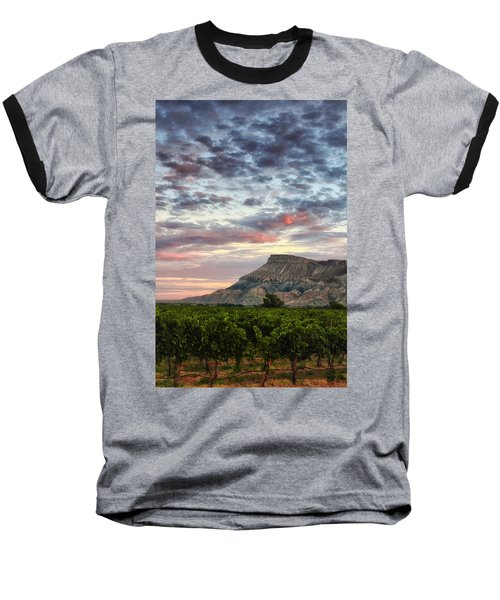 Vineyards And Mt Garfield Baseball T-Shirt by Ronda Kimbrow