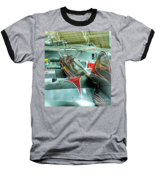 Vintage Airplane Comparison Baseball T-Shirt