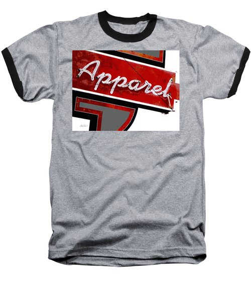 Vintage Apparel Sign Red And Gray Baseball T-Shirt