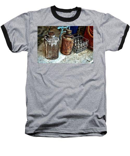 Hdr Vintage Art  Cans And Bottles Baseball T-Shirt