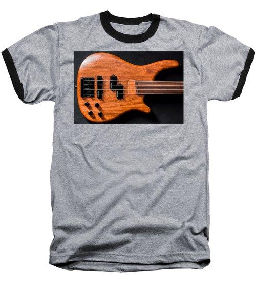 Vintage Bass Guitar Body Baseball T-Shirt