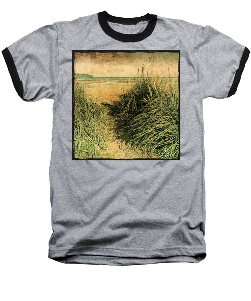 Vintage Beach  Baseball T-Shirt by Roxy Hurtubise