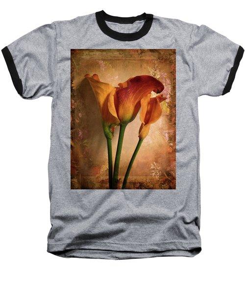 Vintage Calla Lily Baseball T-Shirt