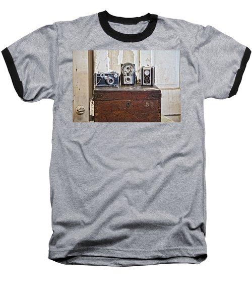 Vintage Cameras At Warehouse 54 Baseball T-Shirt