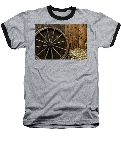 Vintage Carriage Wheel Baseball T-Shirt