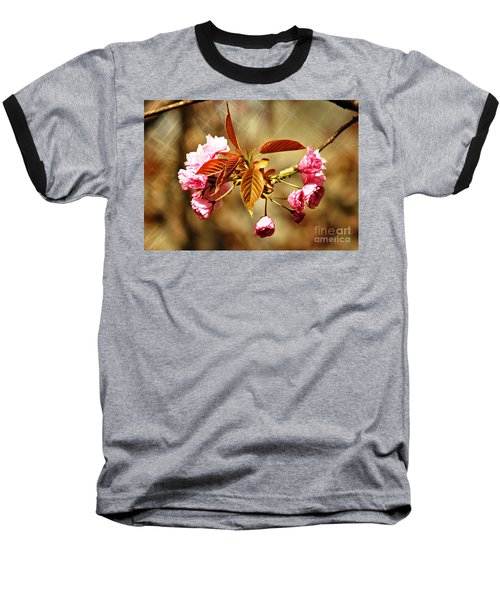 Baseball T-Shirt featuring the photograph Vintage Cherry Blossoms by Judy Palkimas