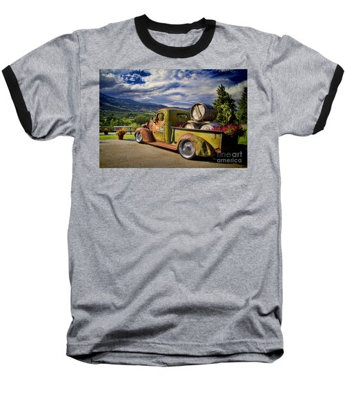 Vintage Chevy Truck At Oliver Twist Winery Baseball T-Shirt