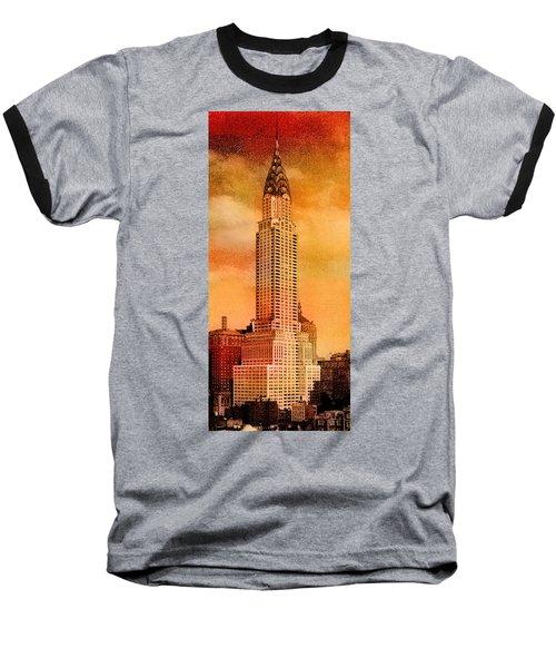 Vintage Chrysler Building Baseball T-Shirt