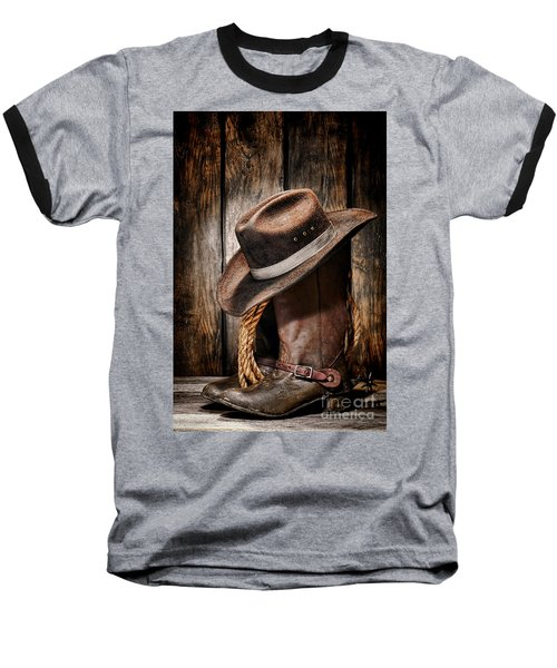 Vintage Cowboy Boots Baseball T-Shirt
