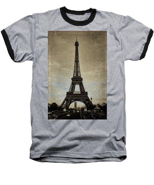Vintage Eiffel Bronze Baseball T-Shirt