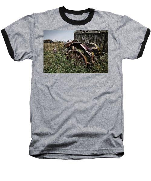 Vintage Farm Tractor Color Baseball T-Shirt