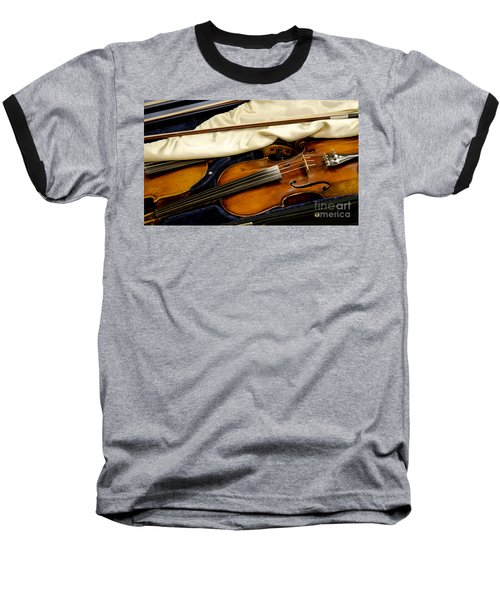 Vintage Fiddle In The Case Baseball T-Shirt