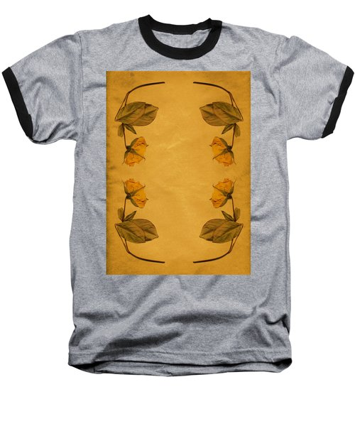 Vintage Flowers Baseball T-Shirt