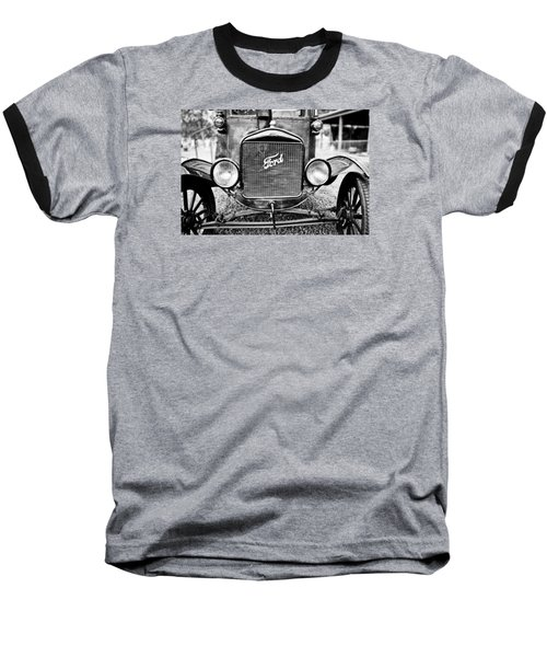Vintage Ford In Black And White Baseball T-Shirt