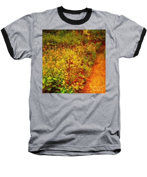 Baseball T-Shirt featuring the photograph Vintage Garden Path by Terri Gostola
